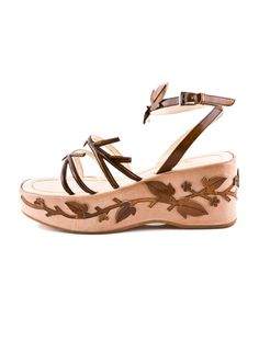 Prada leaf and vine platforms, S/S 1997  Most Wanted. If anyone ever wants to part with these...please let me know!