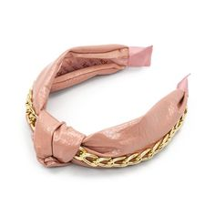 Patent Knotted Headband with Chain from KITSCH X Justine Marjan