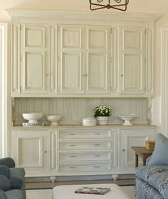 Nice Cabinets In A Seating Area Kitchen Desk Areas Wall Bedroom