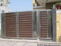 Entrance Gates, Brick House Designs, Villa Design, Fence Gate Design, House Gate Design, Gate House, Door Design, Entrance, Dream Spaces