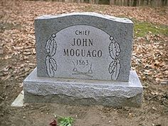 Chief John Moguago.    Native American Huron Potawatomi Chief. Born in the Athens Township, Michigan, he was the leading founder of the Huron Potawatomi Tribe on the Pine Creek. Reservation.  Indian Cemetery, Athens, Michigan.  Find A Grave