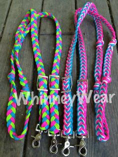 Try making paracord reins (though might need to use leather attachments or something on the ends to make safer in case of accident)