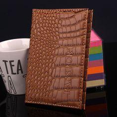 Portador de passaporte de viagem cartão titular capa de passaporte de couro PU homens titular do cartão de crédito carteira
