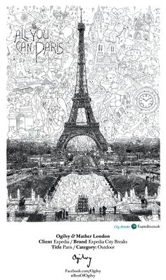 Expedia City Breaks - Paris... #BestOfOgilvy work by Ogilvy & Mather London. (cl)