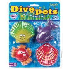POOF Dive Pets Sink and Find Pool Toys