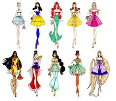 Disney princess X fashion runaway catwalk inspiration drawing