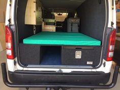 iload van fit out Tiny Camper Trailer, Bus Camper, Van Conversion Interior, Camper Van Conversion Diy, Campervan Interior, Truck Interior, Truck Camping, Van Camping, Motorhome