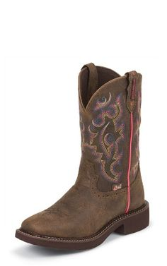 Justin Boots All Womens Boots L9608 BARNWOOD BROWN BUFFALO