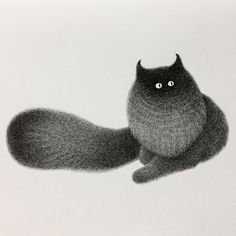 Malaysian Artist Creates Fluffy Cats Using Just Ink And The Result Looks Hauntingly Beautiful