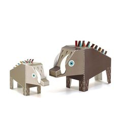 Maxi Boar Paper Toys  DIY Paper Craft Kit  3D Paper by pukaca