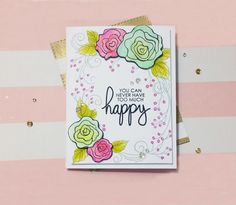 Hello, all! Oh my, it's been forever since my last post, but I managed to make some free time today and quickly made a card as I just couldn't take it anymore without touching my crafti…