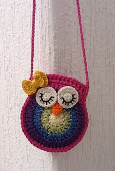 free crochet pattern little girl purseDiscover thousands of images about Owl purse crochet patternowl purse# Free # crochet link here DISCLAIMER First and foremost I take no credit for any of the FREE pattern links on this page .Meet your Posher, Sut Crochet Owl Purse, Crochet Purse Patterns, Crochet Tote, Crochet Handbags, Crochet Purses, Crochet Gifts, Crochet Pillow, Bag Patterns, Sewing Patterns