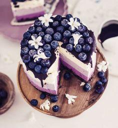 Cheesecake cru aux myrtilles
