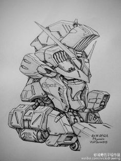 GUNDAM GUY: Awesome Gundam Sketches by VickiDrawing [Updated 9/27/16]