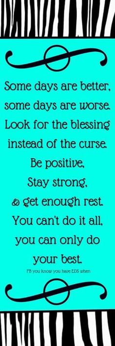 Look for the blessing and do your best.