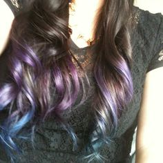 Purple Dip Dye Hair | Dip Dye Purple Tumblr Hair Picture