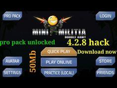 Download mini militia 4.2.8 only pro pack mod/link in description - YouTube