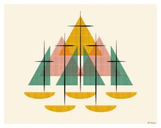 Mid Century Modern Sailboats by ModernSouth 0