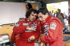 Alain Prost and Ayrton Senna Alain Prost, Michael Schumacher, Mclaren Formula 1, Damon Hill, David Coulthard, James Hunt, John Watson, Gp Do Brasil, Kart