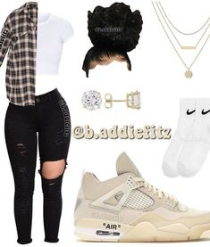 Baddie Outfits Casual, Swag Outfits For Girls, Teenage Girl Outfits, Cute Swag Outfits, Girls Fashion Clothes, Teenager Outfits, Nike Outfits, Teen Fashion Outfits, Retro Outfits