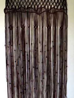 macrame door curtain, room divider, macrame door hanging, home decor