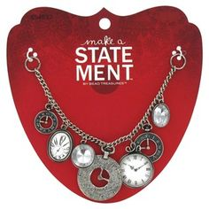 Make a Statement by Bead Treasures Silver Clock Charms On Chain Focal   Shop Hobby Lobby