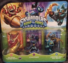 Skylanders Swap Force Characters 3 Pk Big Bang Star Strike Gill Grunt