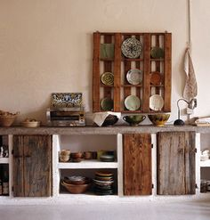Reclaimed wood kitchen by Baileys Home and Garden