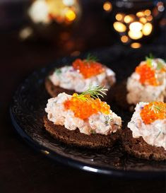 Lohimousse | Maku Xmas Food, Party Snacks, Sushi, Recipies, Cheesecake, Muffin, Food And Drink, Breakfast, Ethnic Recipes