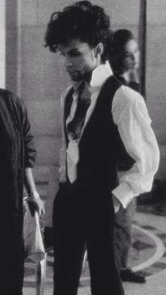 """Prince at """"Diamonds and Pearls"""" video shoot."""