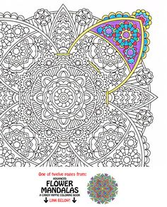 Mandala Coloring Page - Lily of Kings - printable coloring for adults - ornate mandala for mindfulness coloring, get well soon gift