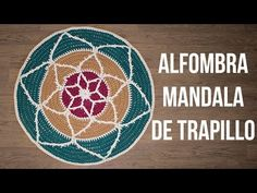 Alfombra mandala de trapillo en relieve - MissDIY