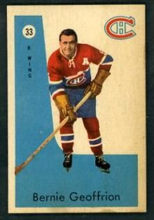 Montreal Canadiens Legends: Boom Boom Geoffrion (and now we have Baby Boom! Montreal Canadiens, Hockey Cards, Baseball Cards, Nhl Players, Canada, Sports Photos, Baby Boom, Big Time, Scores