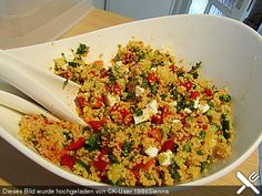 Cous - Cous Salat à la Foe, ein schönes Rezept aus der Kategorie Reis/Nudeln/Getreide. Bewertungen: 303. Durchschnitt: Ø 4,5.