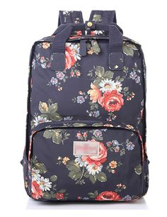 MiCoolker(TM) Floral Printed Birds Polka Dot Cartoon Casual Style Lightweight Computer Laptop Backpack Cute Travel School College Shoulder Bag Bookbags Daypack for Teen Girls Students and Women