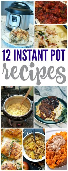 Easy Instant Pot Recipes! Try these the next time you are looking for something quick and easy!