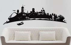 durban skyline wall decal sticker