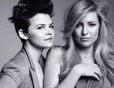 Kate Hudson pose along with Ginnifer Goodwin for the cover shoot of June 2011 issue of the fashion magazine Marie Claire US
