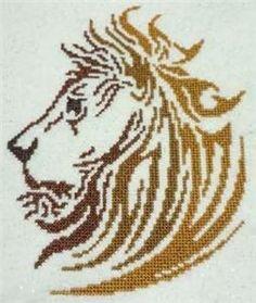 Tribal Lion Cross Stitch Pattern (257618) Embroidery Patterns by Cross Stitch Wonders