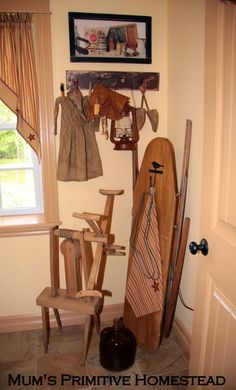 I have a wooden ironing board I could put in my laundry room
