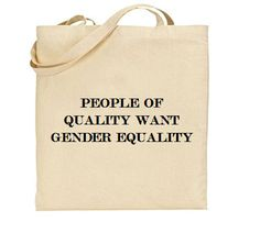 Love Feminism? Tell the world with this tote! As an environmentally friendly alternative to plastic grocery bags, it is the perfect accessory for the eco and politically minded shopper! It features a bold feminist slogan and makes a wonderful gift. Also available as a t-shirt.  This bag is made from 100% natural 6oz cotton. Long handles make it easy to carry and sling over your shoulder, and it can be folded up and stored in a pocket or handbag, ready to be used whenever needed. The screen…