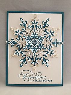 Christmas Blessing Card Made with Stampin' Up