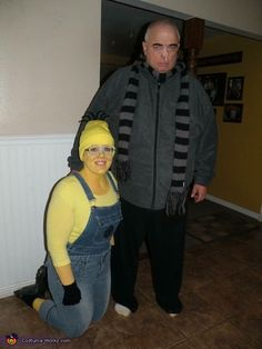 Emily: I am the minion and my dad is a very believable Gru. I usually come up with my costumes the year before when everyone is dressed up and I get...