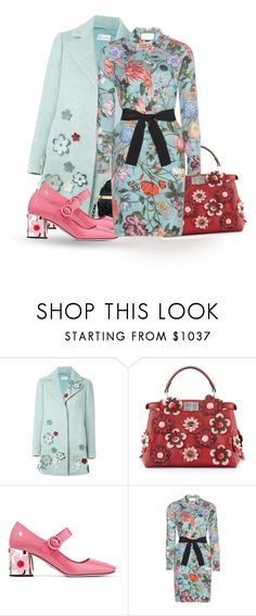 """Tutti fiori"" by lorika-borika on Polyvore featuring мода, RED Valentino, Salvatore Ferragamo, Fendi, Prada и Gucci"