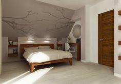 łóżko pod skosem - Lilly is Love Loft Room, Bedroom Loft, Upstairs Bedroom, Master Bedroom, Room Ideas Bedroom, Bedroom Decor, Angled Ceiling Bedroom, Apartment Decoration, Parents Room