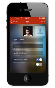 Flat iPhone App Template by Bek Temirbaev, via Behance