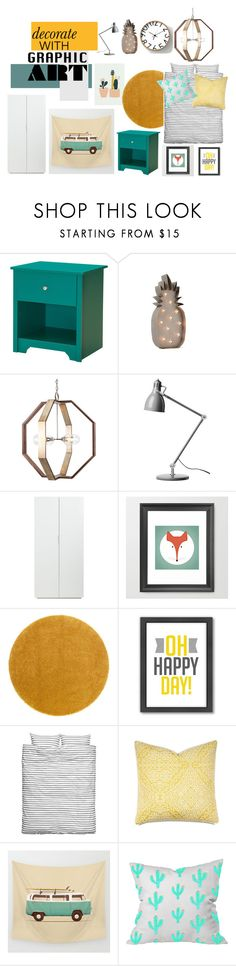 """""""Decorate with graphic art"""" by gemmabosch ❤ liked on Polyvore featuring interior, interiors, interior design, home, home decor, interior decorating, South Shore, CB2, Americanflat and Barclay Butera"""