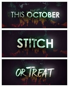 Exactly ONE MONTH--Who's ready for the Stitchers Halloween Special on 10.20.15?! #StitchOrTreat
