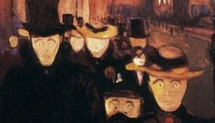 Expressionismo: Evening on Karl Johan Street, de Edvard Munch
