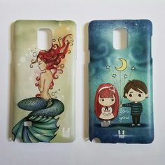 2 Samsung Galaxy Note 4 Phone Cases 2 Samsung Galaxy Note 4 phone cases. One with a mermaid and the other with two kids, stars and moon with words 'for you'. Both so cute and gently used, excellent condition. 1 for $7 or 2 for $12. Other
